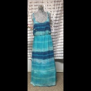 Crystal Blue Maxi Dress 👗